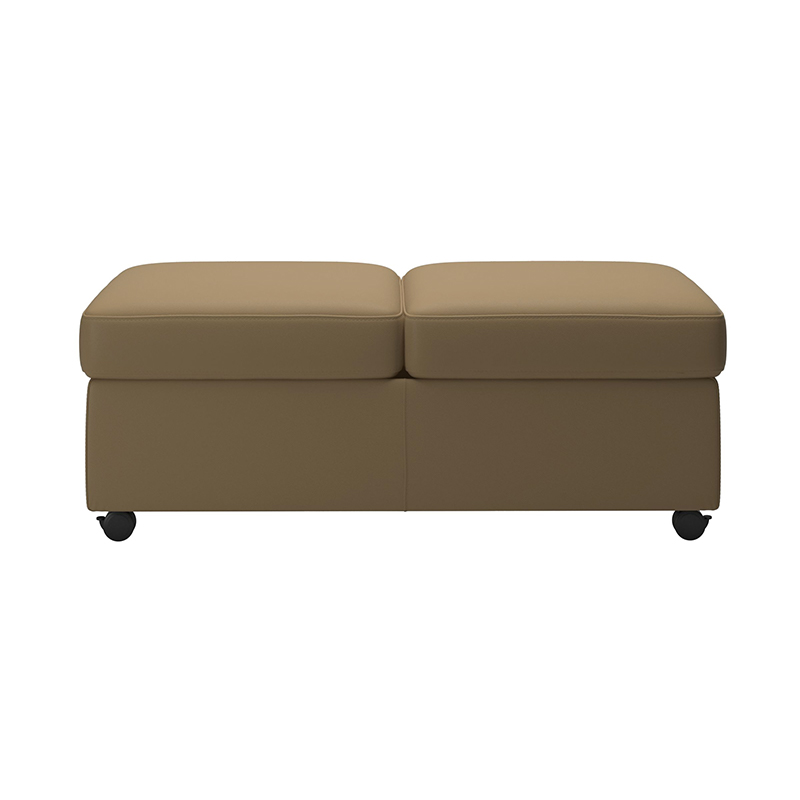 Stressless leather double ottoman