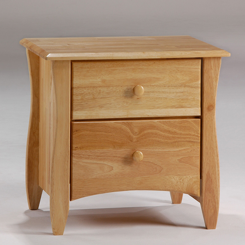 Clove 2 drawer natural nightstand