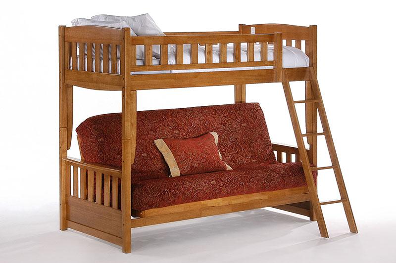 Cinnamon oak futon bunk frame