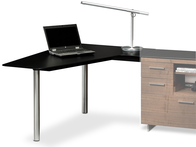 Sequel 6018 cherry left peninsula desk