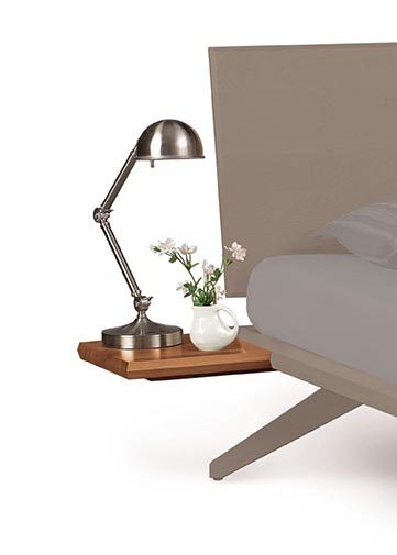 Astrid cherry shelf nightstand