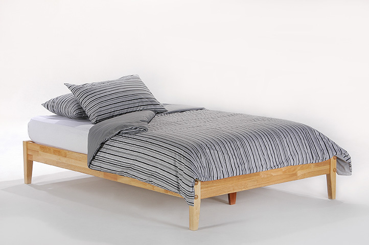 Basic natural queen bed