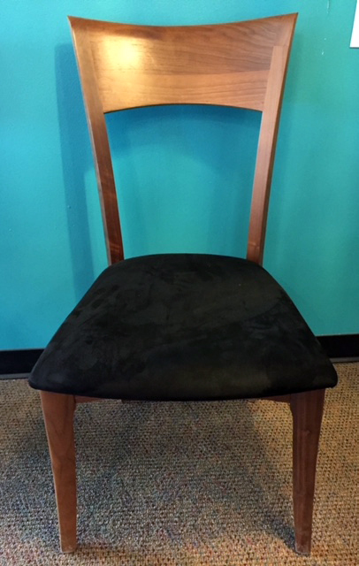 Ingrid walnut side chair