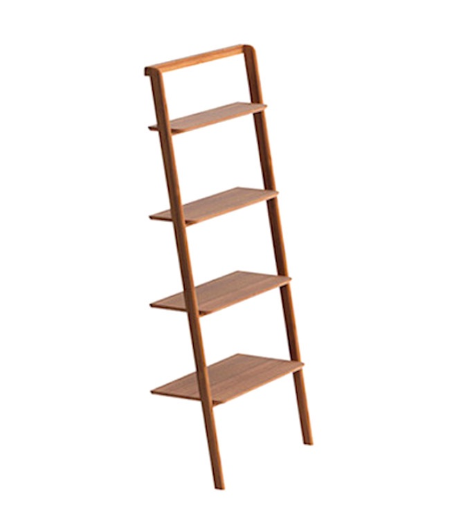 Currant bamboo leaning shelf