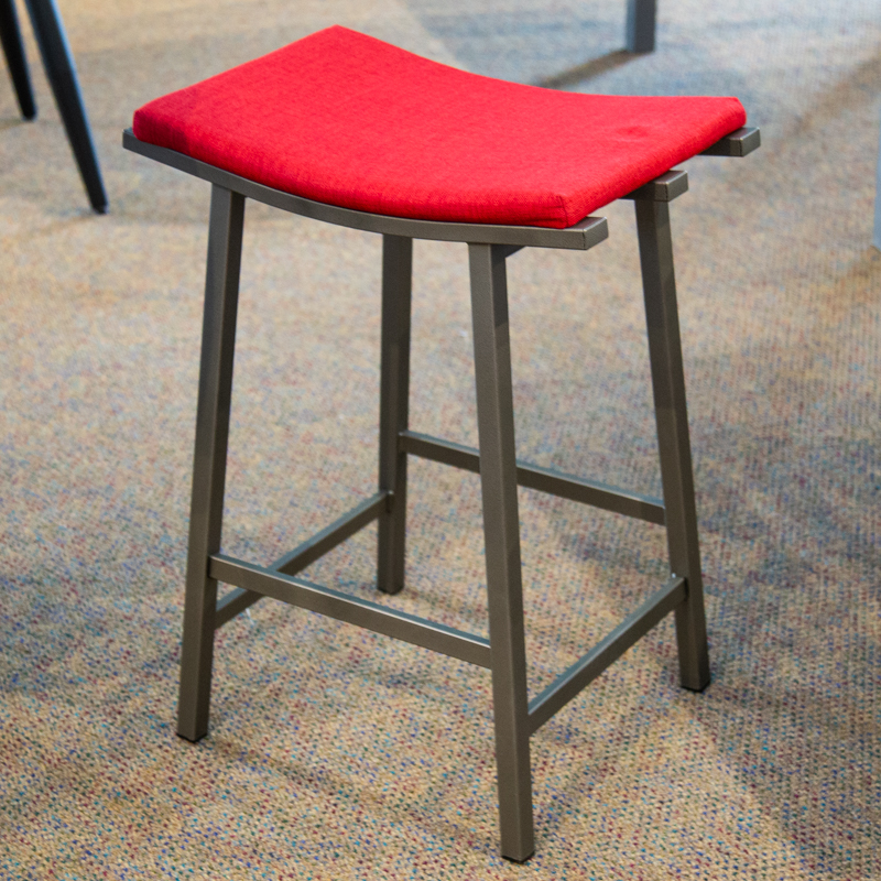 Nathan red counter stool