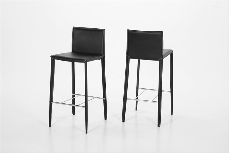 Andrew black bar stool