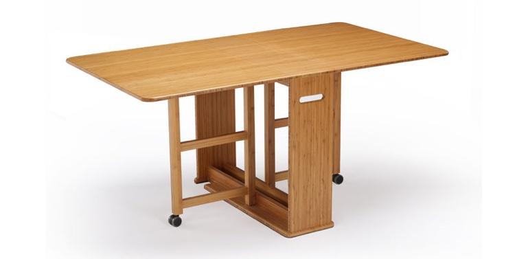 Linden bamboo gate-leg table