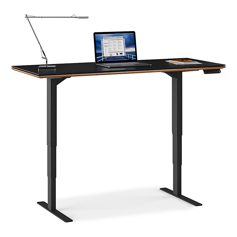 Sequel walnut and glass sit-stand desk  (60 x 24)