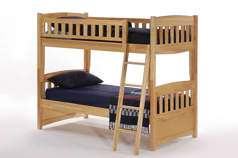 Cinnamon natural twin bunk bed