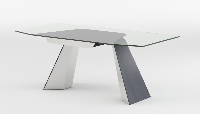 Haven glass laptop desk