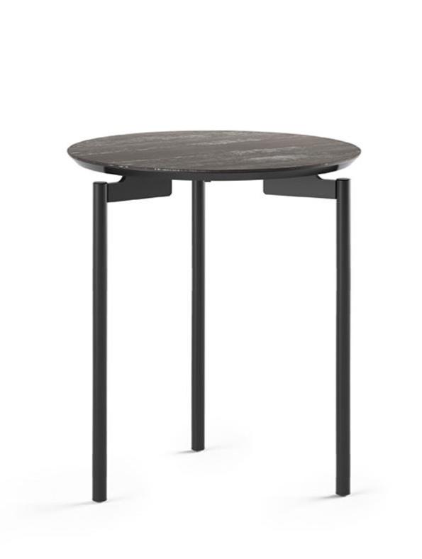 Radius 1736 end table in ferrous finish