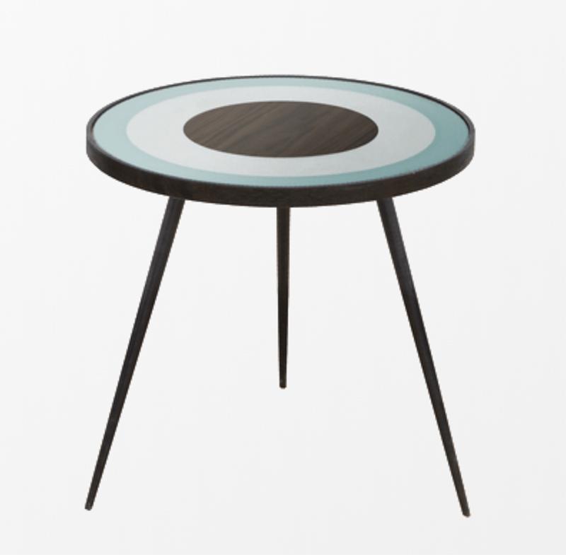 Bullseye small side table