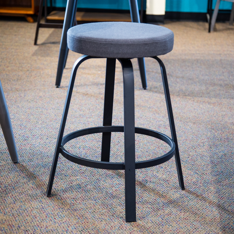 Reel swivel counter stool