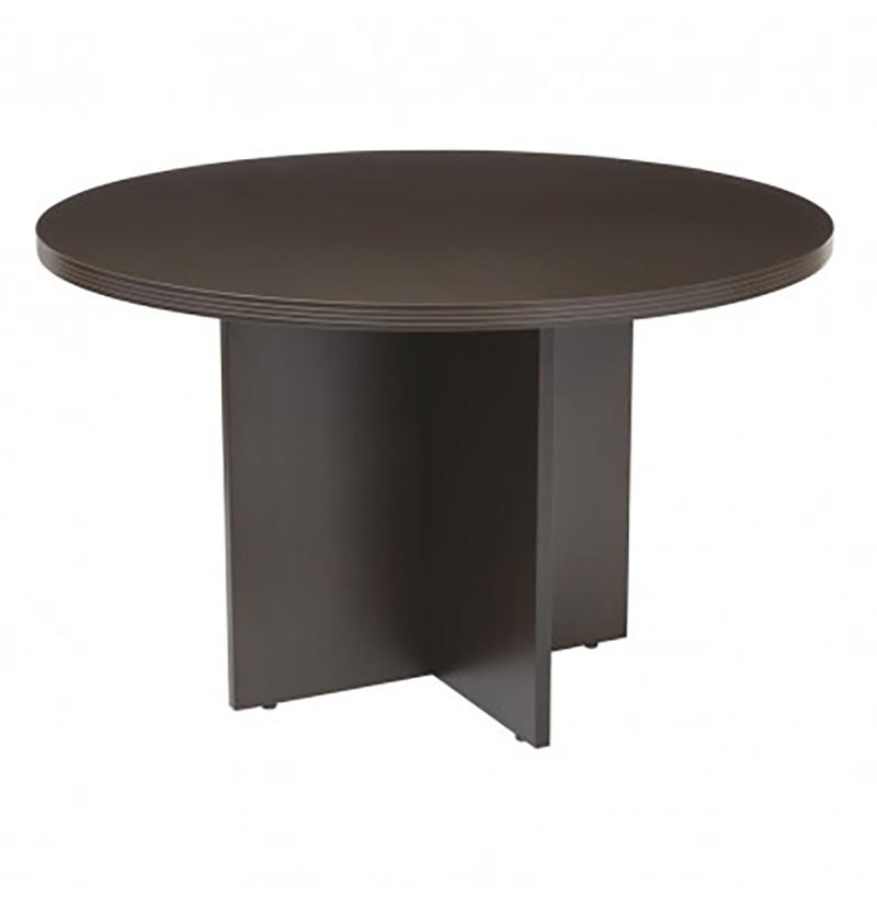 Small conference 42 inch table in Espresso
