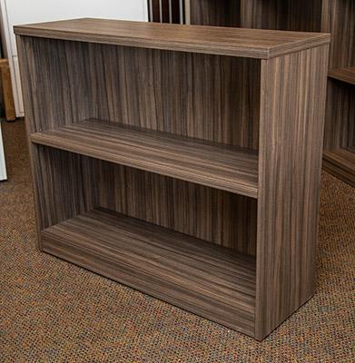 Urban walnut 2-shelf bookcase