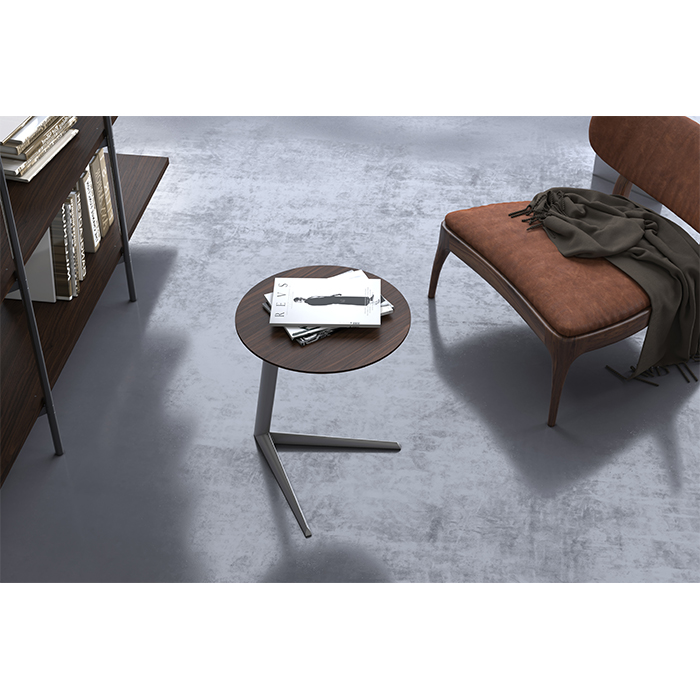 Milo side table in toasted walnut finish