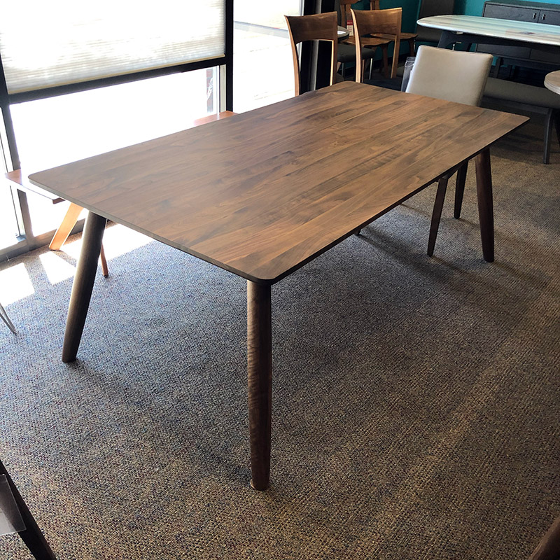 Tahoe large solid walnut dining table