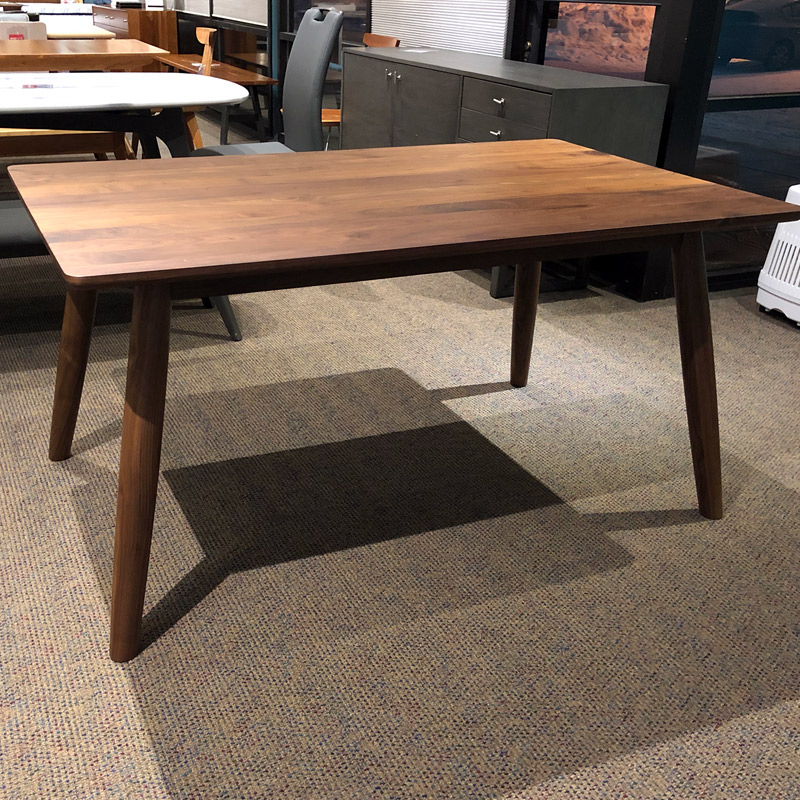 Tahoe small solid walnut dining table