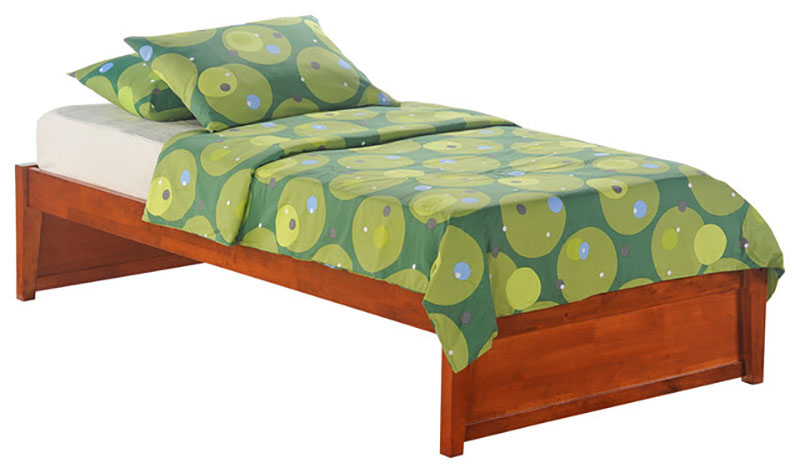 Basic K series cherry twin bed