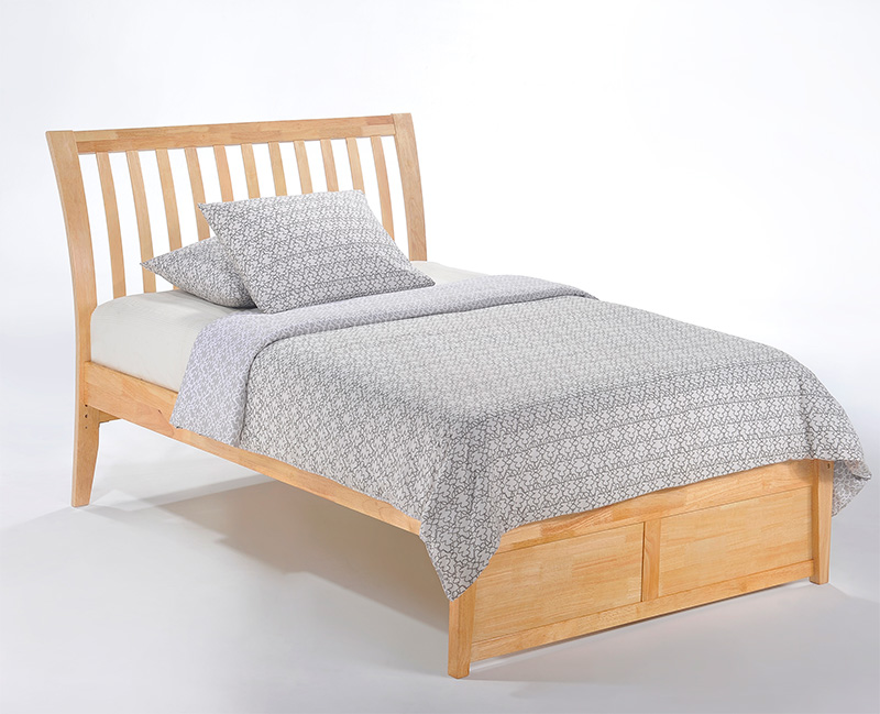 Nutmeg K Series natural twin bed
