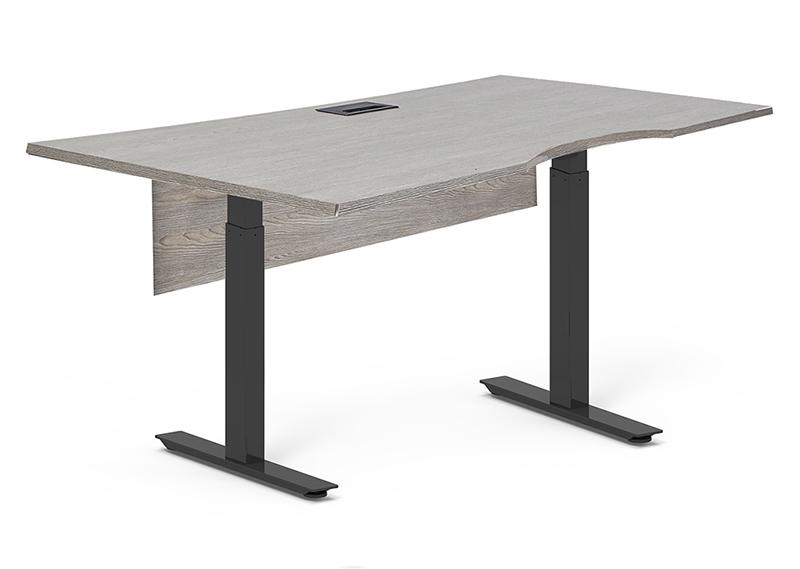 Kalmar grey sit-stand desk  (63 x 32)