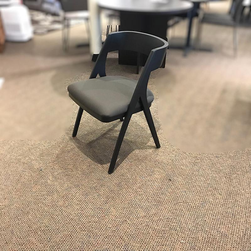 Calvin black side chair