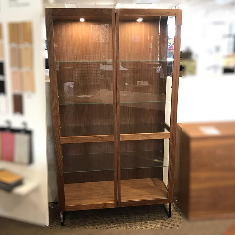 SM 452 walnut display cabinet