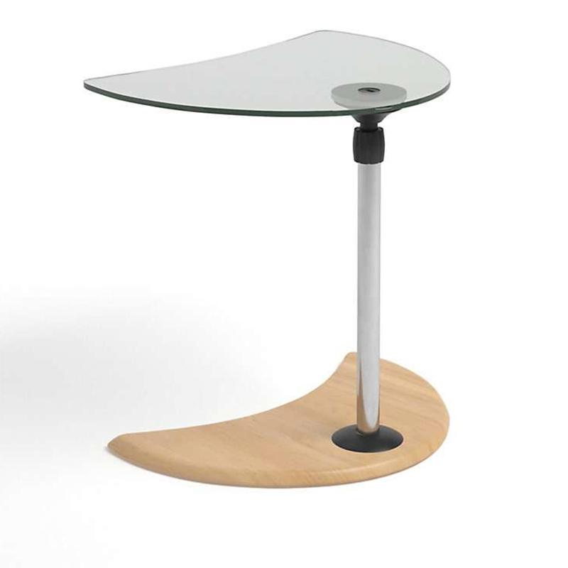 Stressless USB glass / oak side table