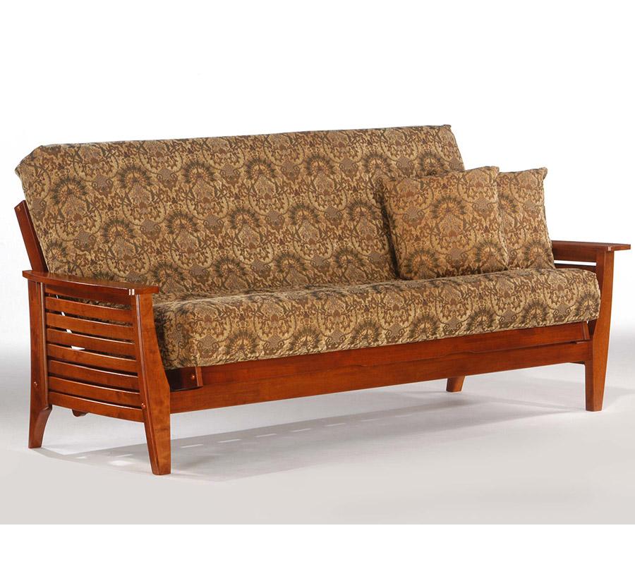 Siesta cherry full futon frame