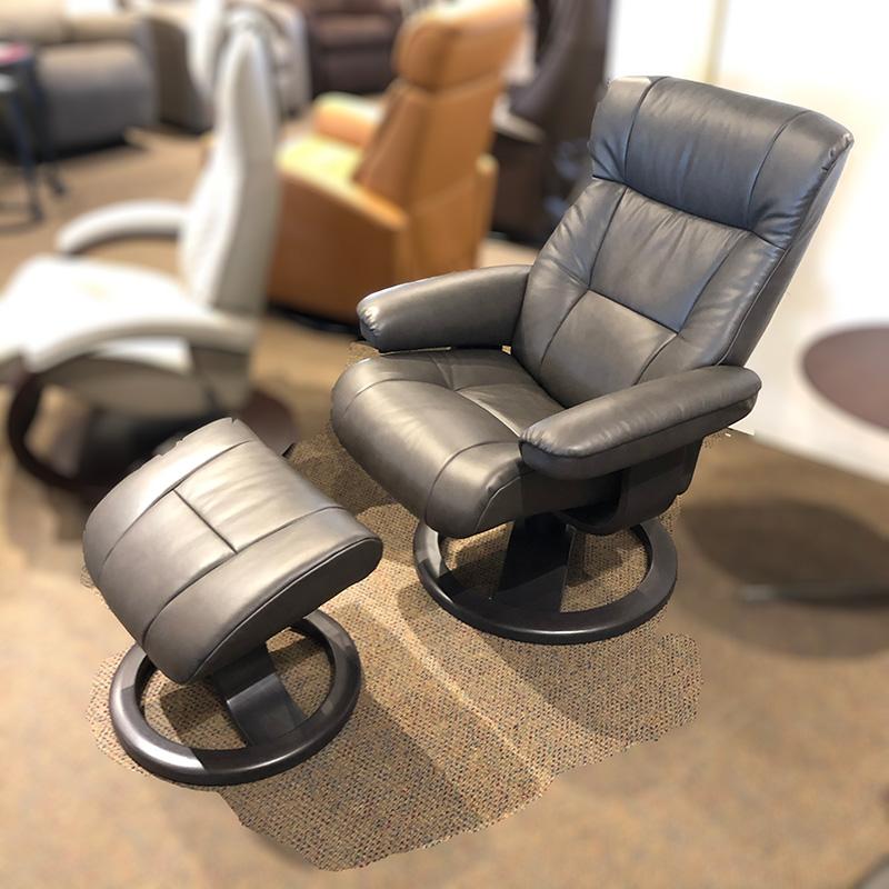 Manjana (S) leather recliner