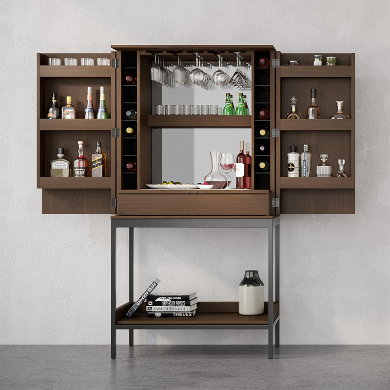 Cosmo 5720 walnut bar cabinet