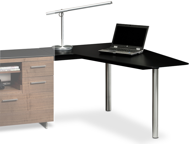 Sequel 6018 cherry right peninsula desk