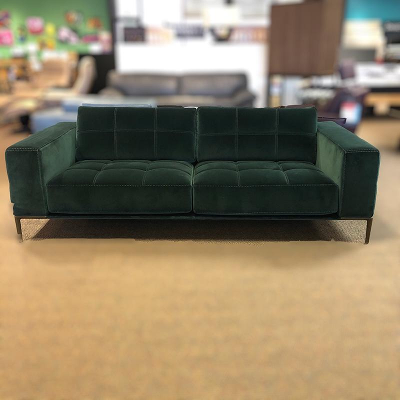 Barcelona 2 seat velvet sofa