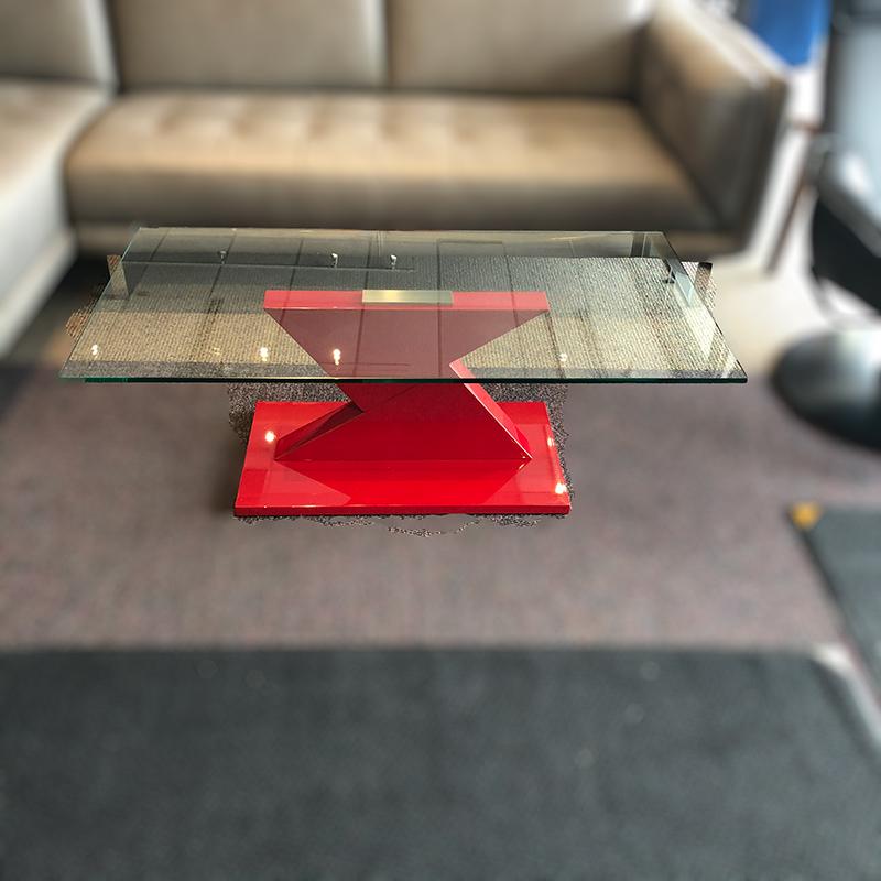 Eli glass coffee table
