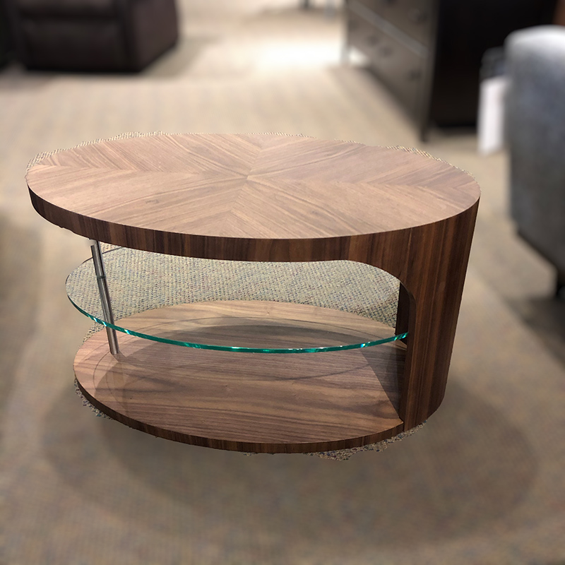 Edie walnut coffee table