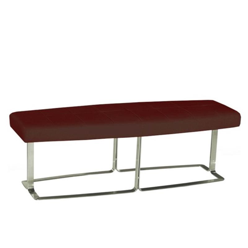 Megan leather bench