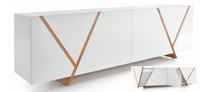 Ypis teak / white sideboard