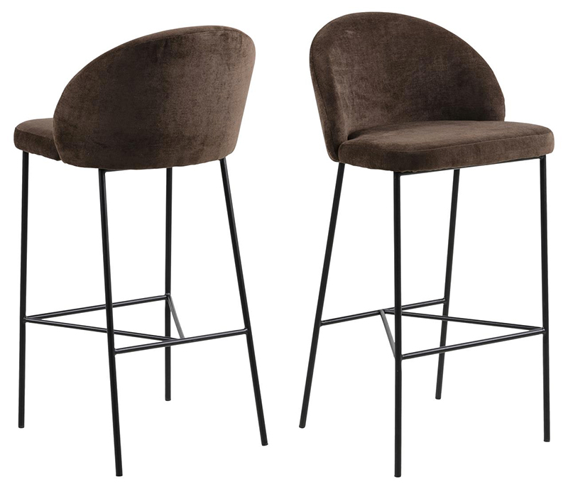 Nelson brown bar stool