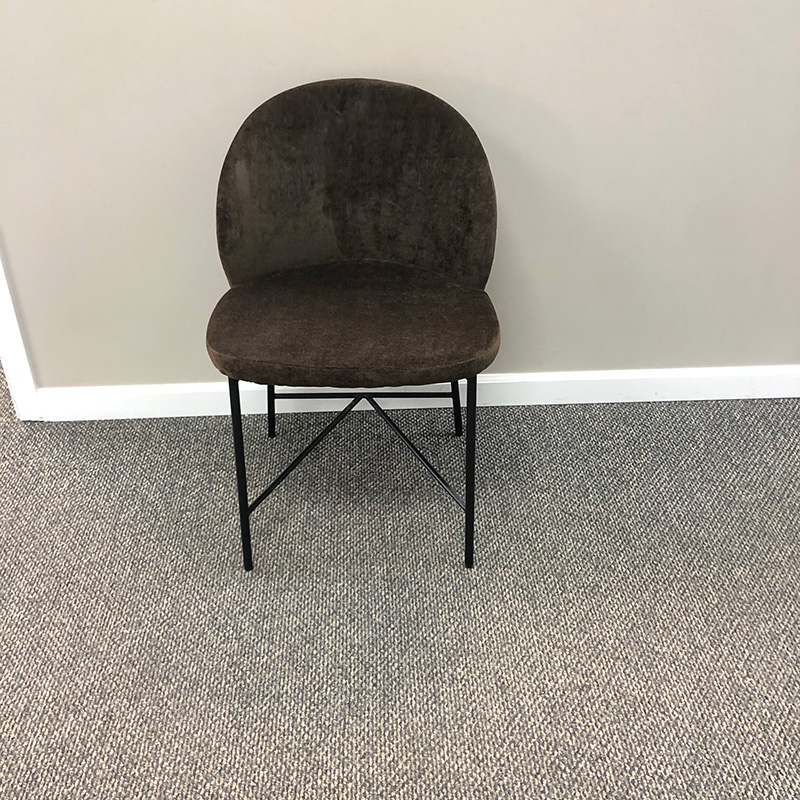 Nelson brown dining chair