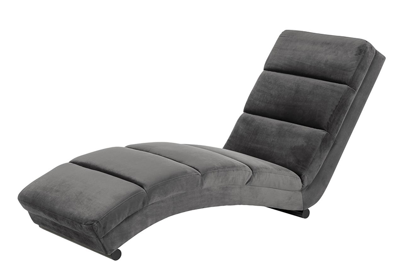 Slinky grey chaise lounger