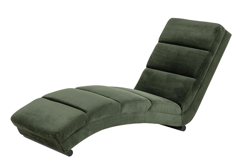 Slinky green chaise lounger