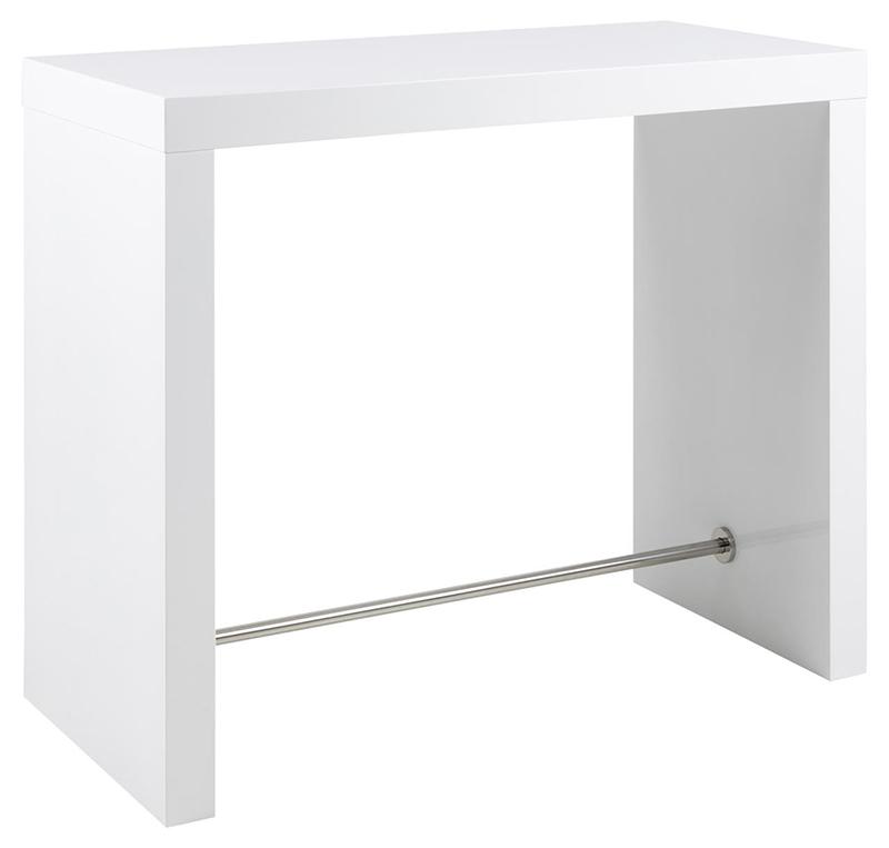 Block white bar table