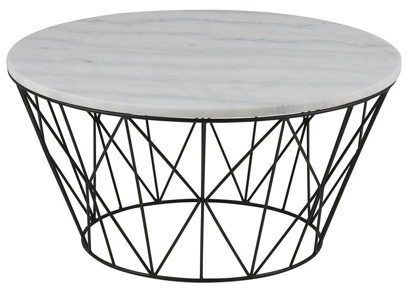 Dudley marble top coffee table