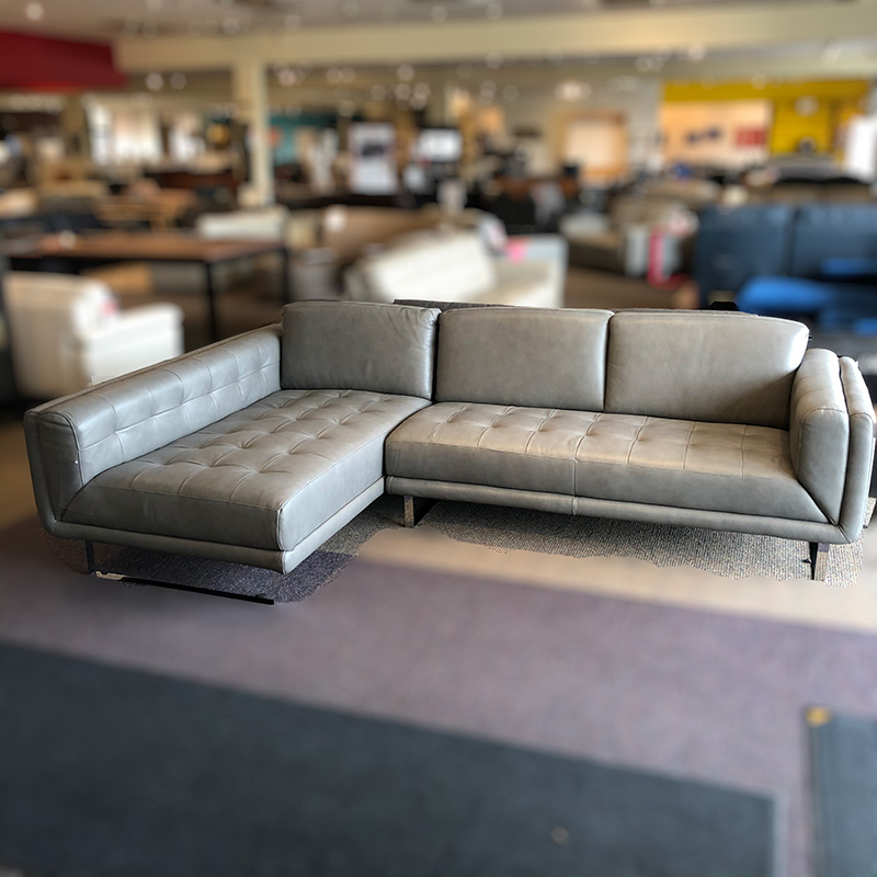 UD-13 leather sectional
