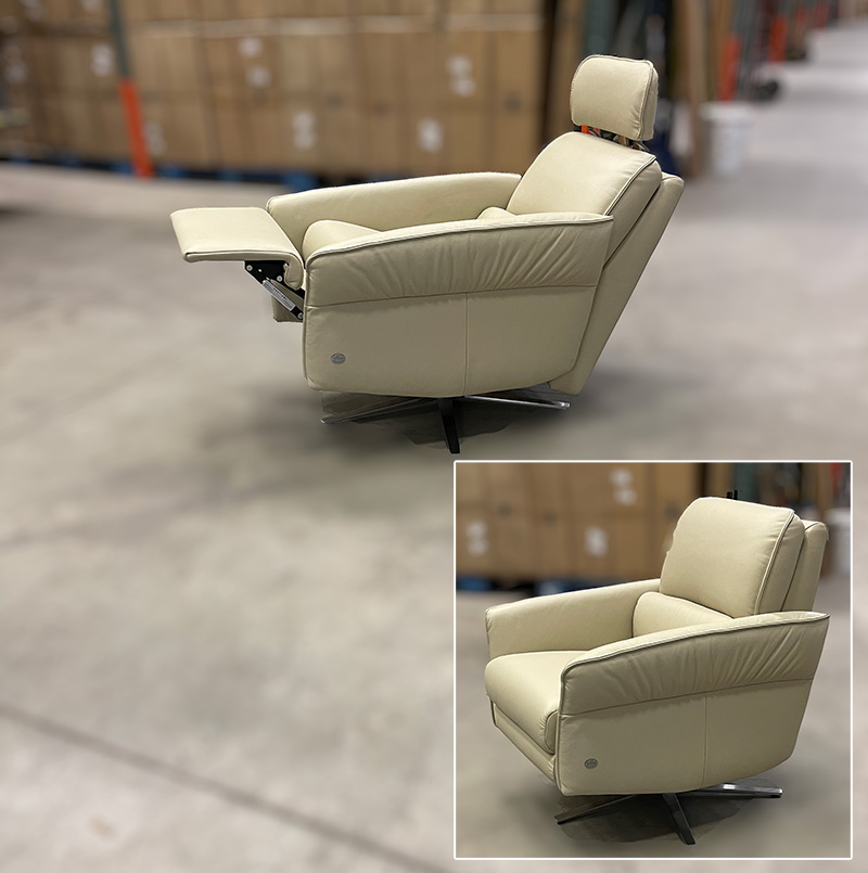 Aura leather recliner