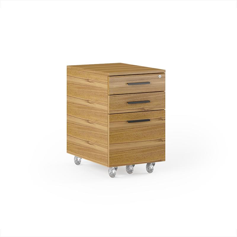 Sequel walnut mobile file pedestal