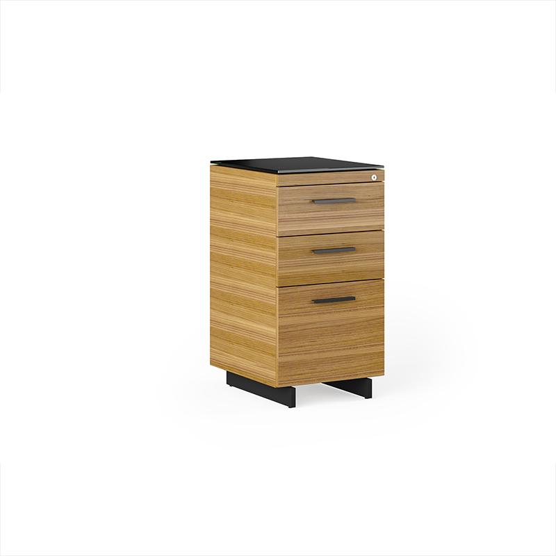 Sequel 6114 walnut file cabinet