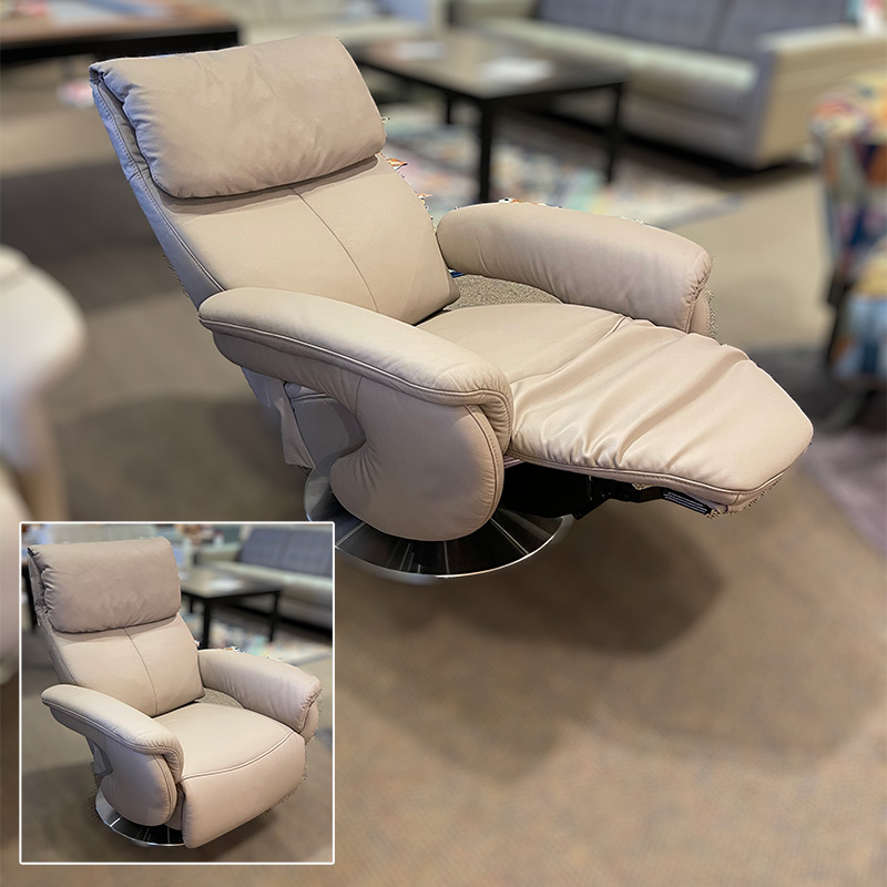 Basie leather recliner
