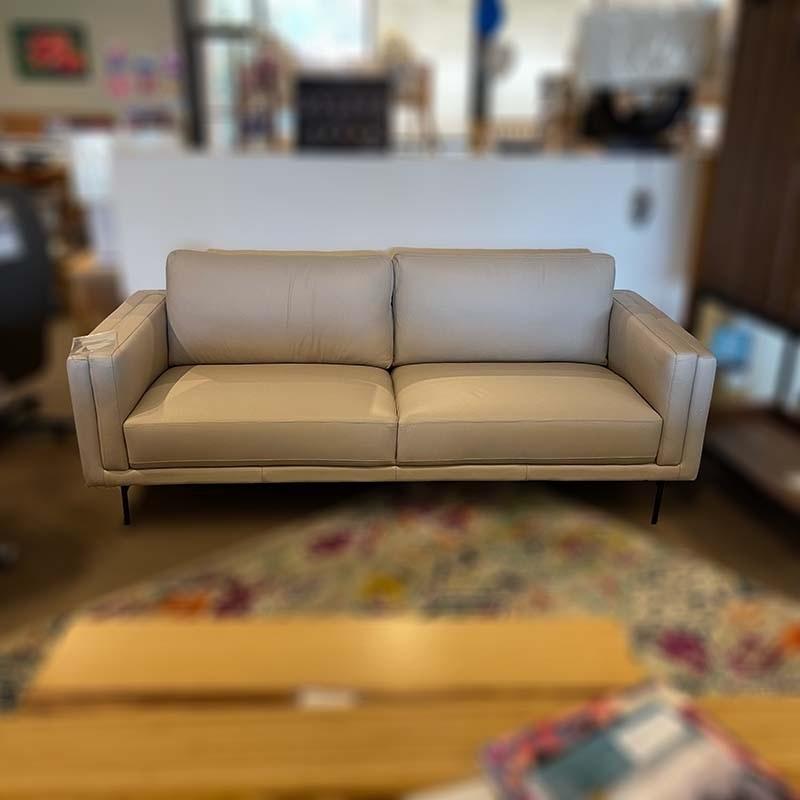 Skagen 3-seat leather sofa